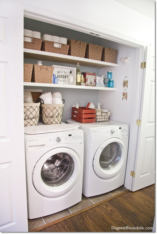 Laundry Room Design Open Shelves