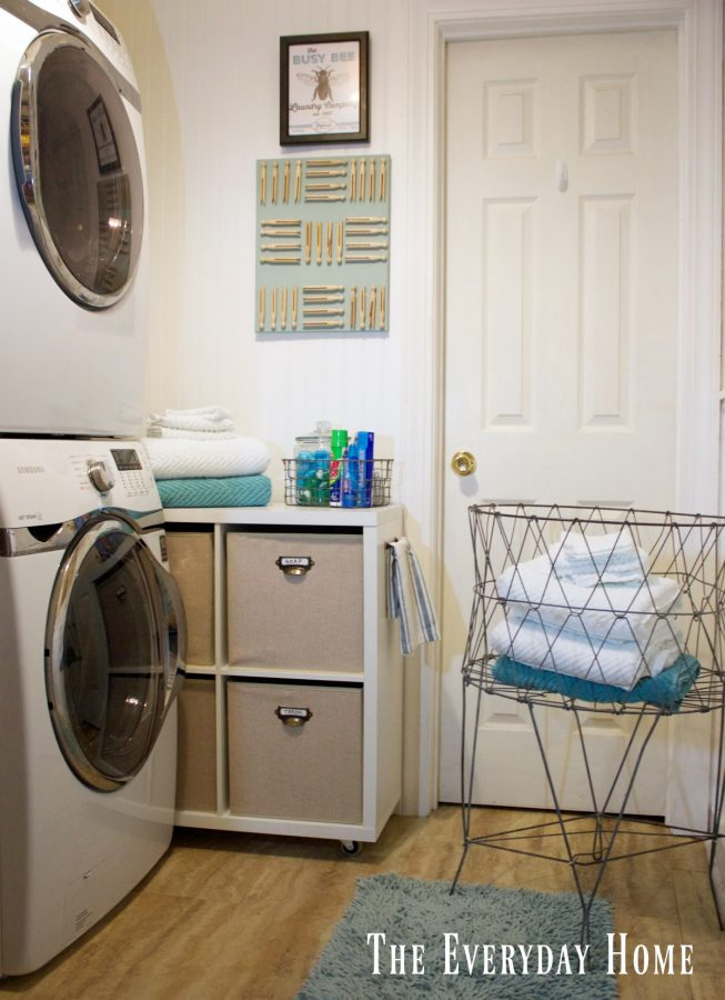 laundry room design stackable machines