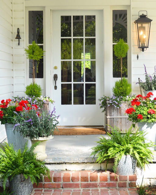 Equal Amounts On Each Side Really Makes For A Beautiful Display. This Porch  Was Featured On The Cover Of Country Living! You Need To See The Entire  Post!