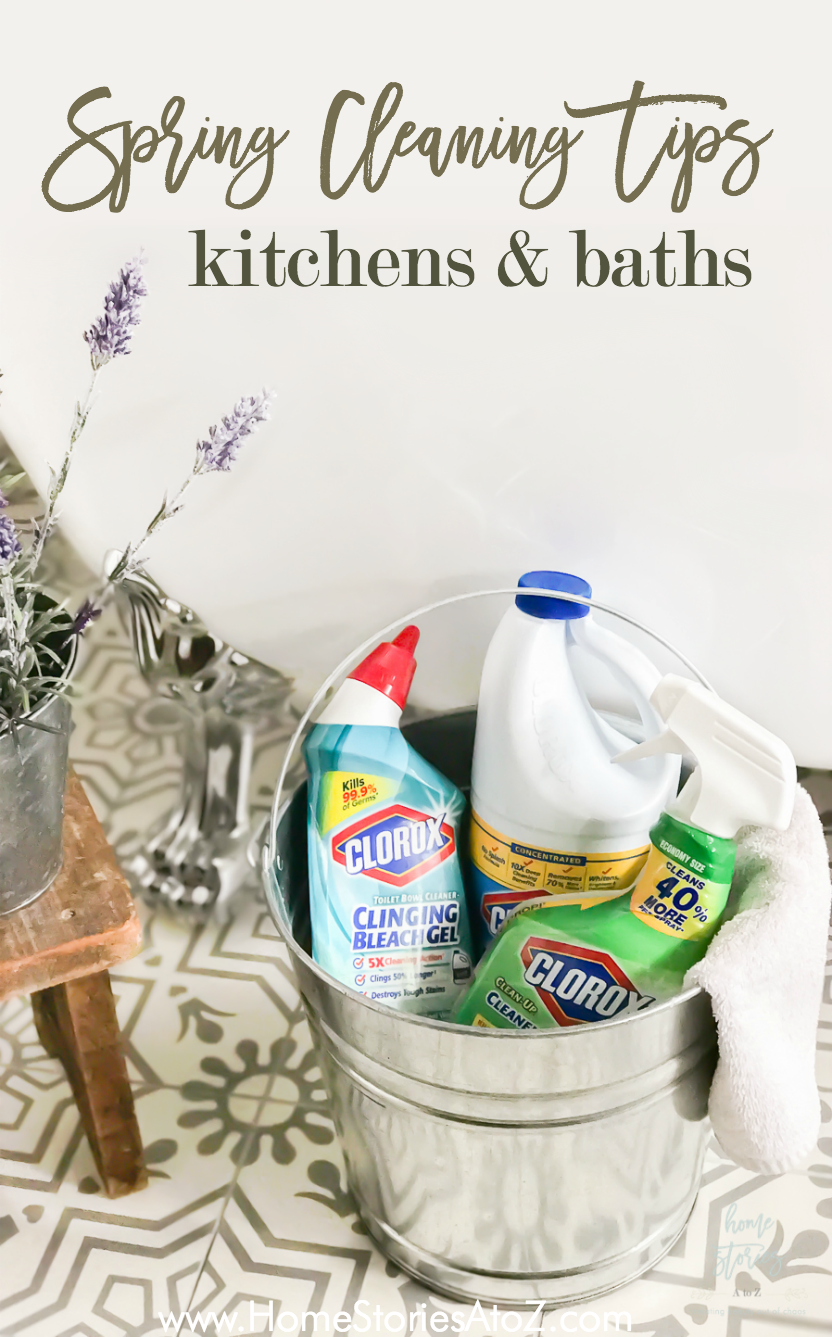 Spring cleaning tips for kitchens and baths