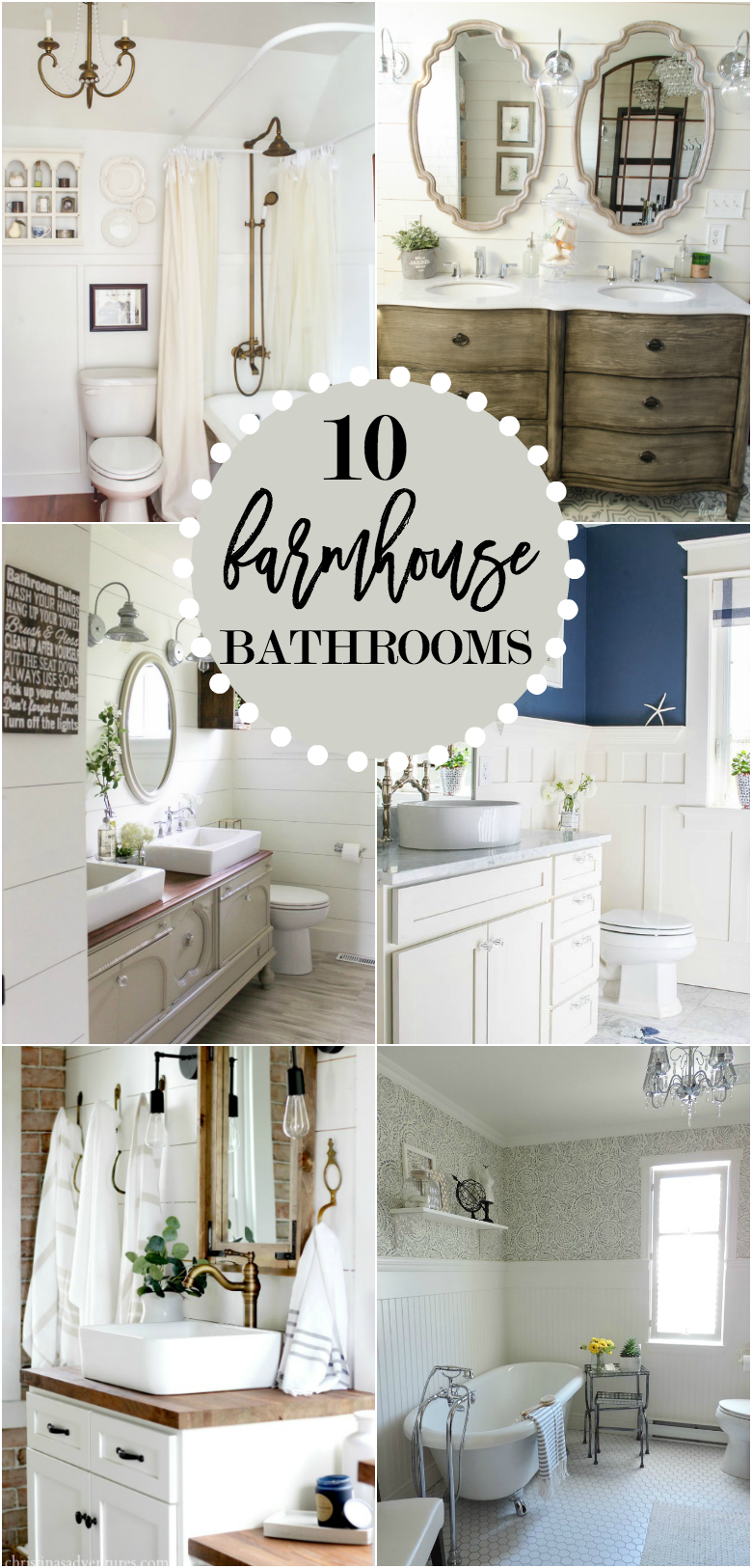 10 Gorgeous Farmhouse Bathroom Renovations on Farmhouse Bathroom Remodel Ideas  id=80342