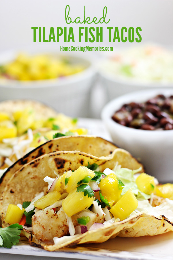 BAKED TILAPIA FISH TACOS BY HOME COOKING MEMORIES
