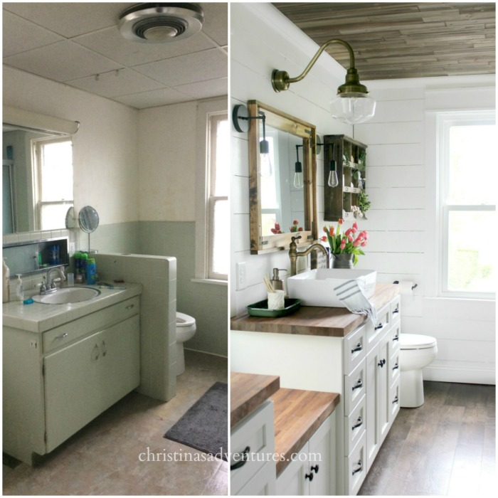 Lovely VINTAGE FARMHOUSE BATHROOM REMODEL BY CHRISTINA uS ADVENTURES