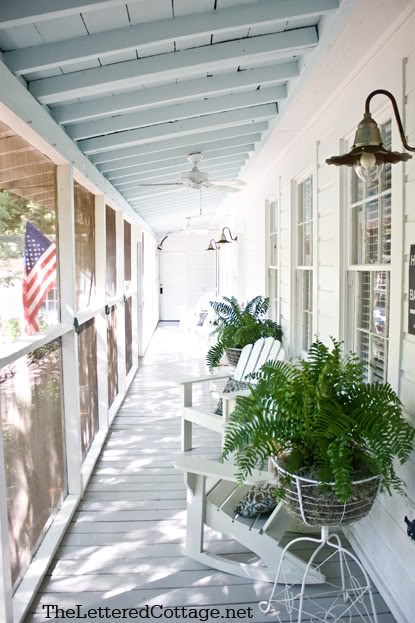 Summer Cottage Porch Via The Lettered