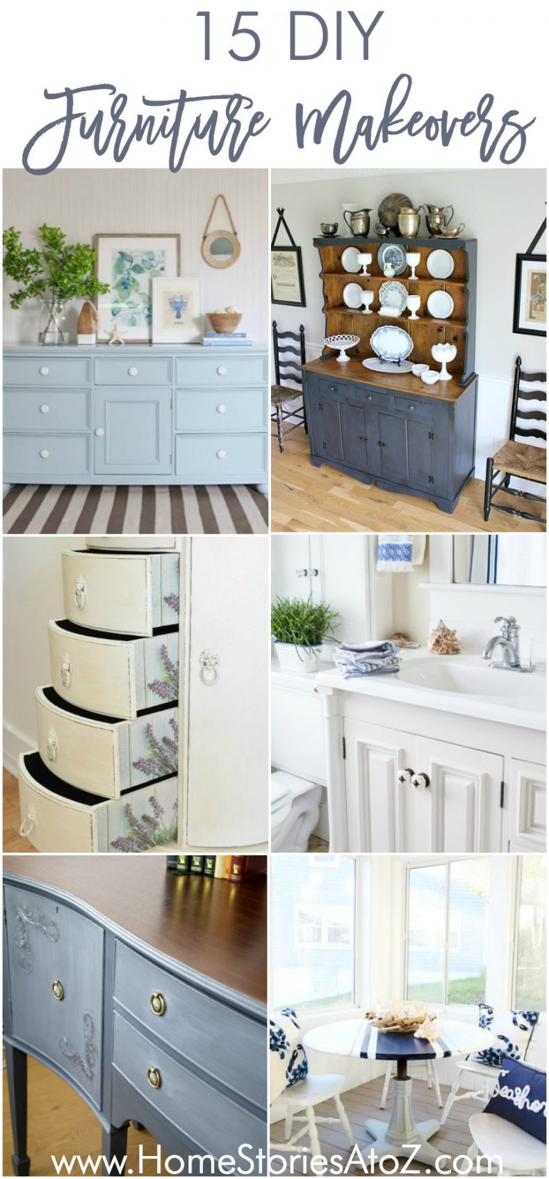 15 DIY Furniture Makeovers painted furniture