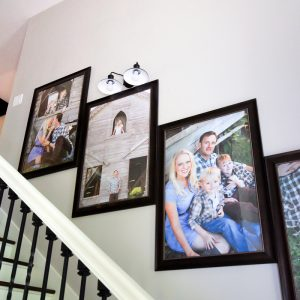 How to Create Stairway Picture Wall