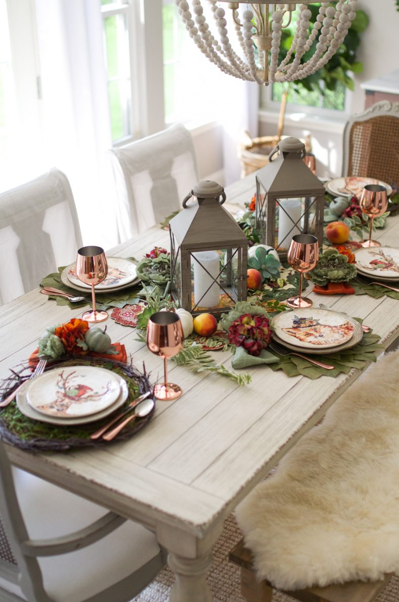 Autumn table tips how to set a table for fall home stories a to z dont be afraid to curate your centerpiece by using a mix of newly purchased items with things from around your home geotapseo Gallery