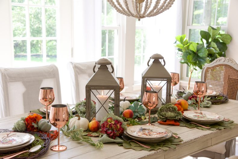 I Love Our Rustic Farmhouse Table And Tend To Forgo A Tablecloth In Favor Of Less Formal Runner For My Centerpiece Used The Gorgeous Autumn