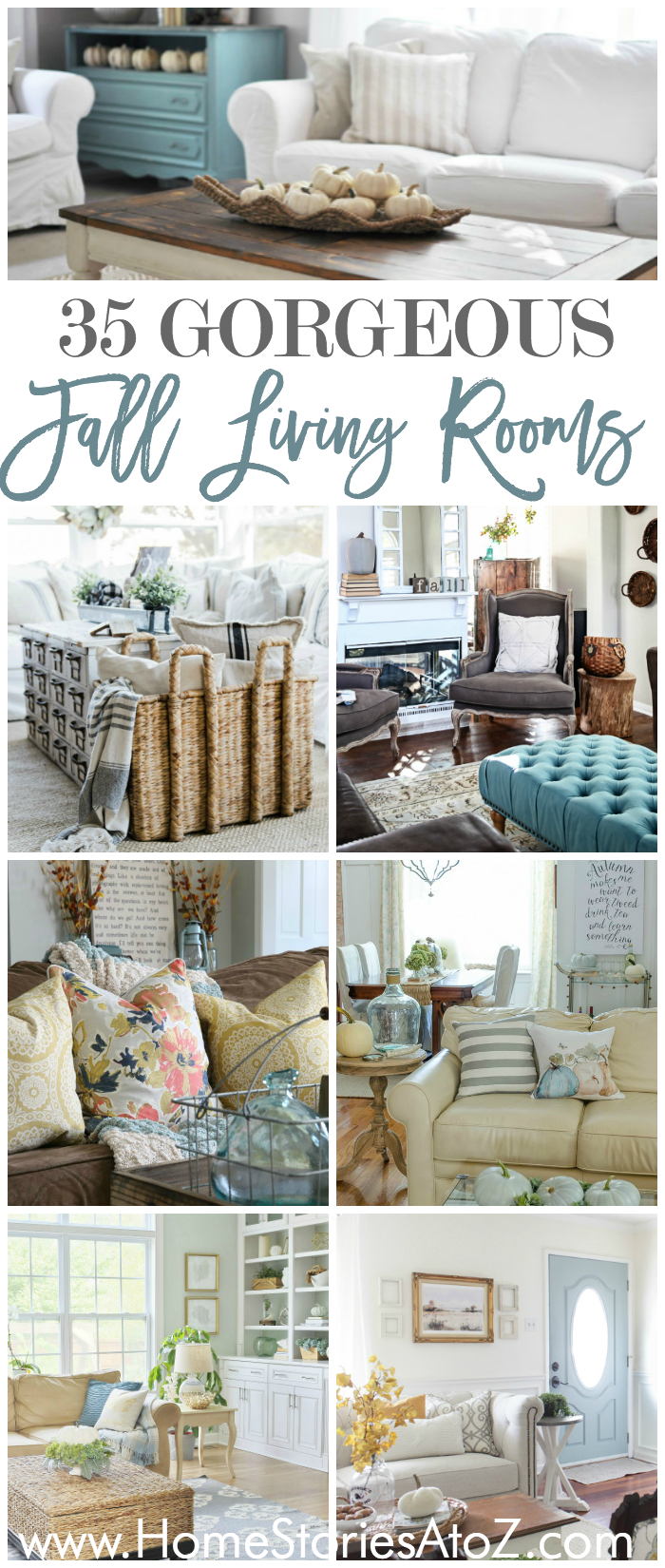 Transitioning Your Living Room Decor From Summer To Fall Doesnu0027t Require A  Complete Decorating Overhaul. See How These 35 Bloggers Decorate Their  Living ...