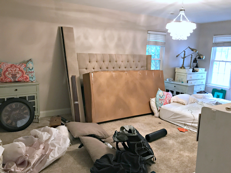 Bedroom makeover before