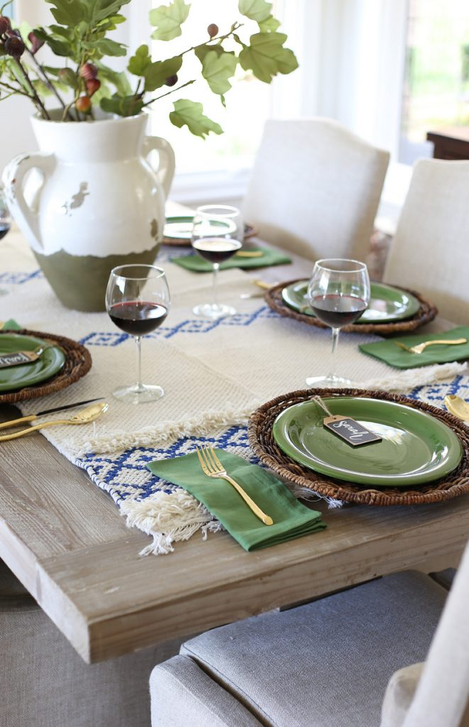 30 blue and green fall dining room by life on virginia street