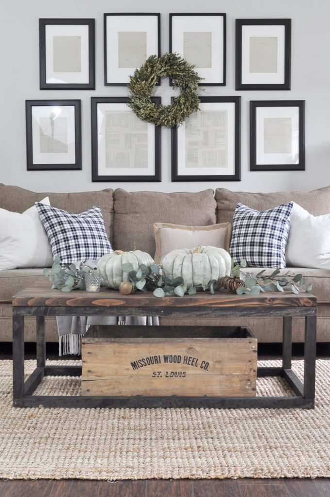 SIMPLE FARMHOUSE FALL LIVING ROOM BY LITTLE GLASS JAR