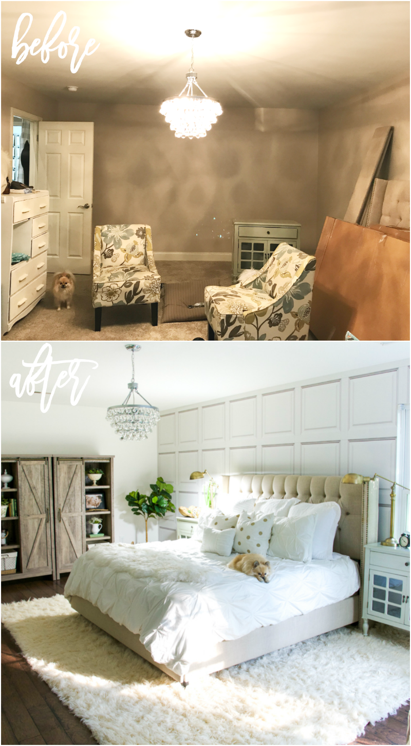 White Master Bedroom Makeover - Home Stories A to Z