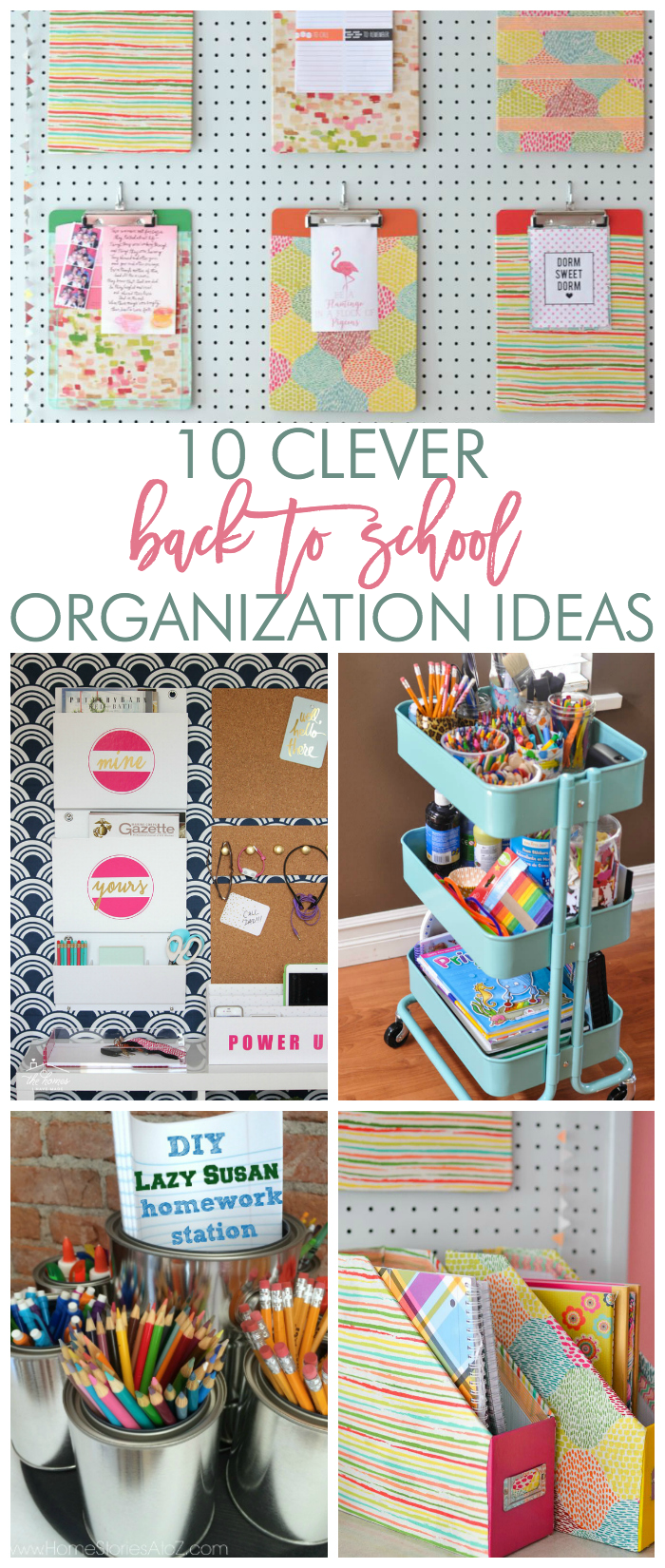 back to school organization homework stations