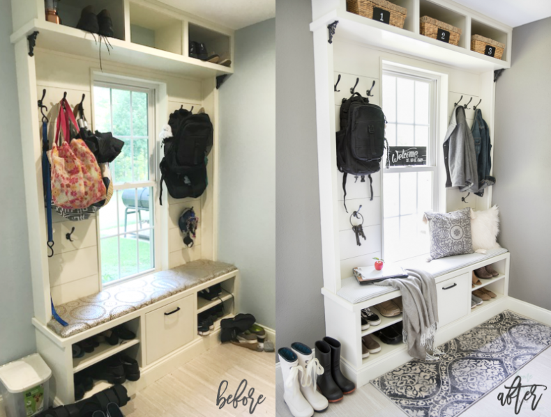Mudroom makeover mudroom ideas mudroom bench