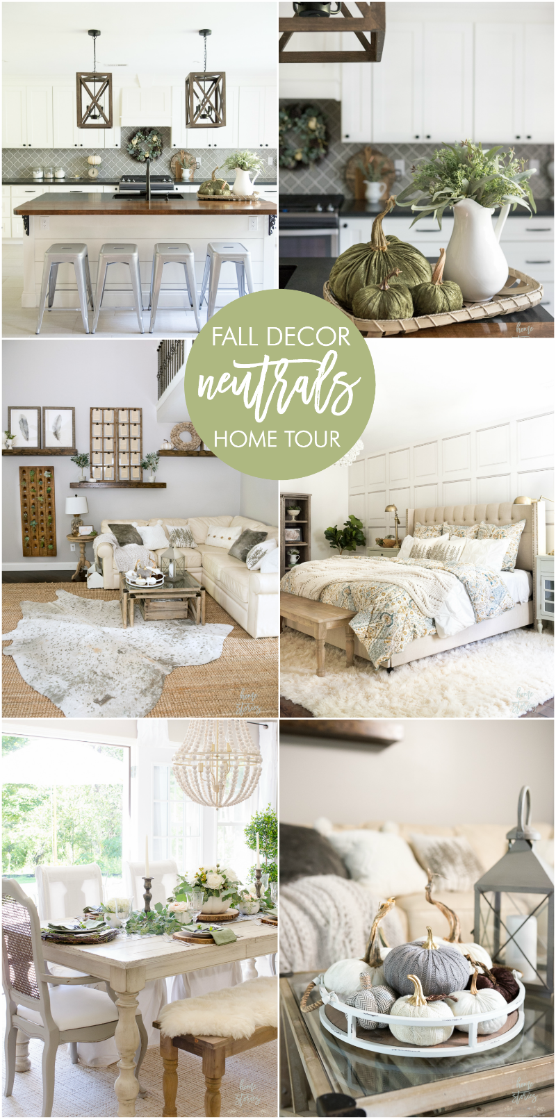 Neutral Fall Decor Home Tour
