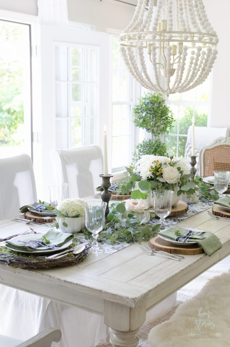 Elegant Black White And Green Farmhouse Table Setting For Fall,Good Plants For Office Spaces