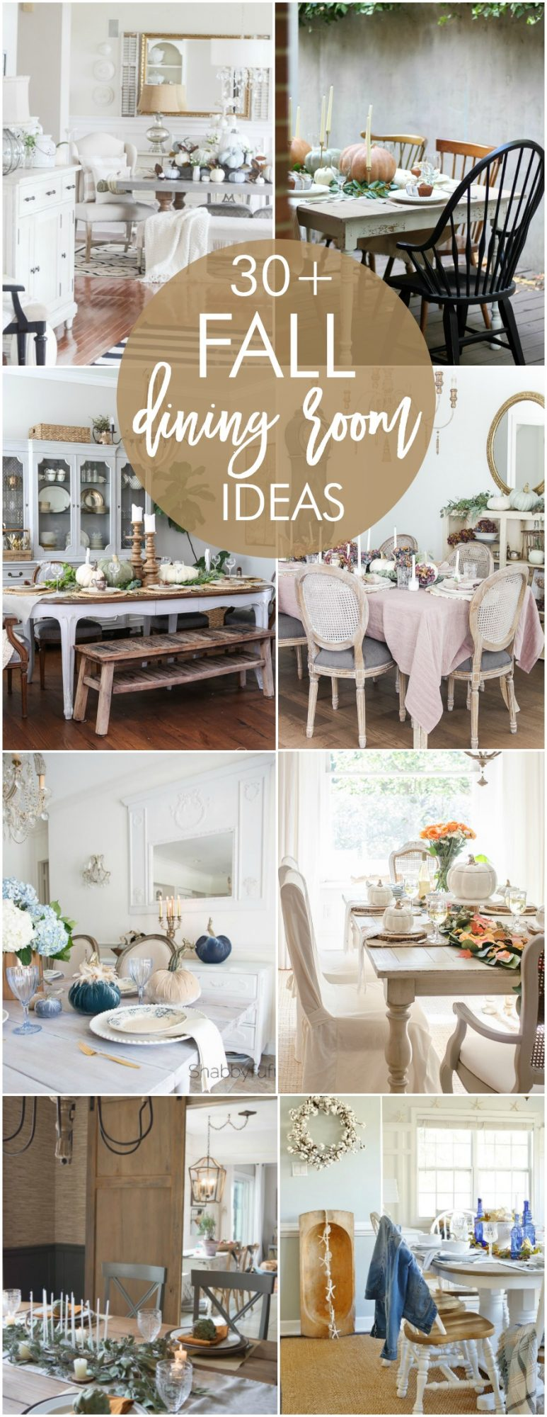 30+ Fall Dining Room and Tablescape Ideas