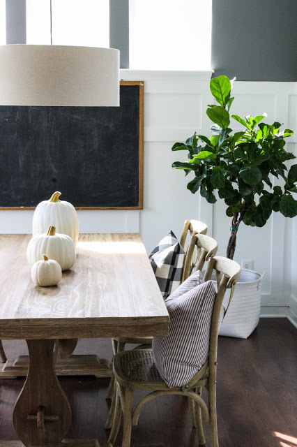 Fall minimalist tablescape ideas by house seven