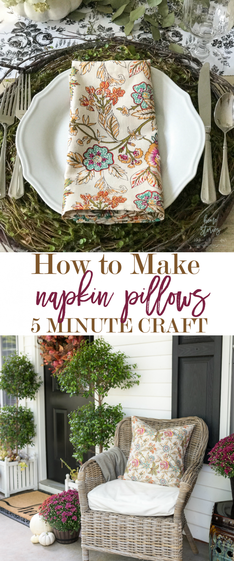 how to make napkin pillows napkin pillow covers 5 minute decorating hack
