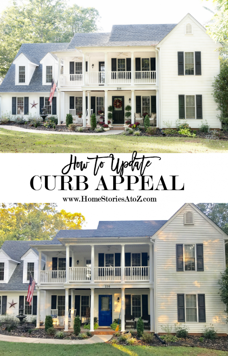 How to update curb appeal how to paint door