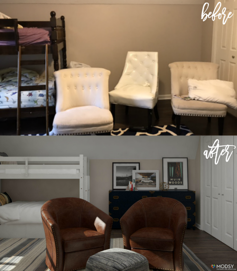 Amazing Room Redesign Service: Boys Bedroom Makeover with Modsy