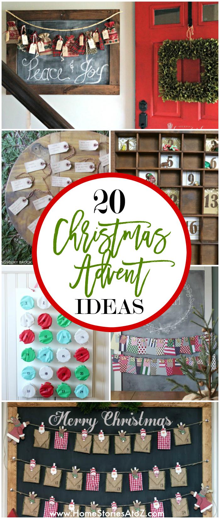 Calendar Ideas For Home : Christmas advent calendar ideas
