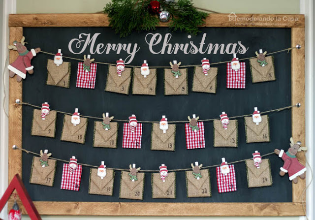 Advent Calendar Envelopes Ideas : Christmas advent calendar ideas