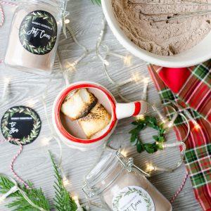 Hot Cocoa Mix Recipe Jar Gift Christmas Free Printable