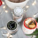 Hot Cocoa Mix Recipe Jar Gift with Free Christmas Printable