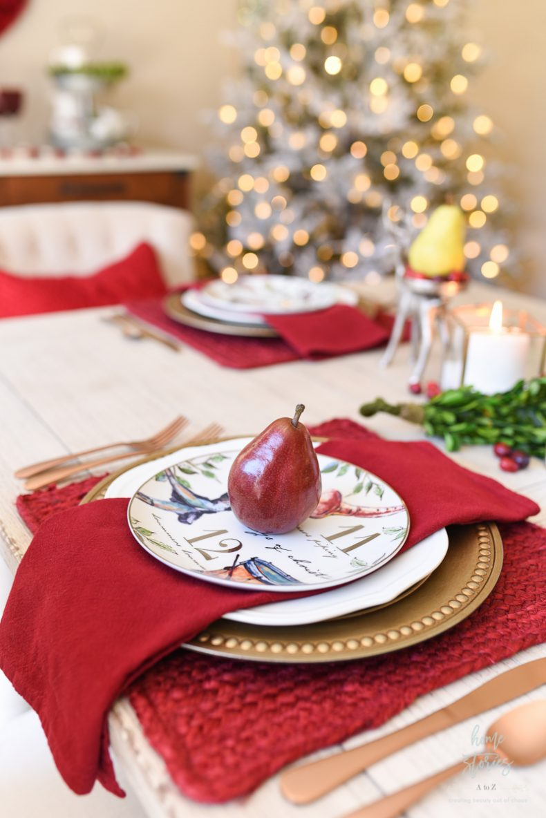 I Love To Include Natural Elements In My Table Decor Also Placed Fresh Cranberries Along The Boxwood Runner And On Reindeer Candle Stands