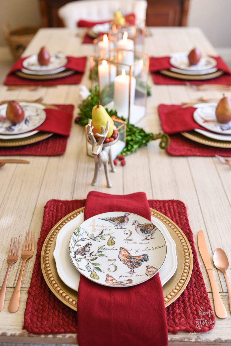 How To Set An Informal Table: 12 Days Of Christmas Table