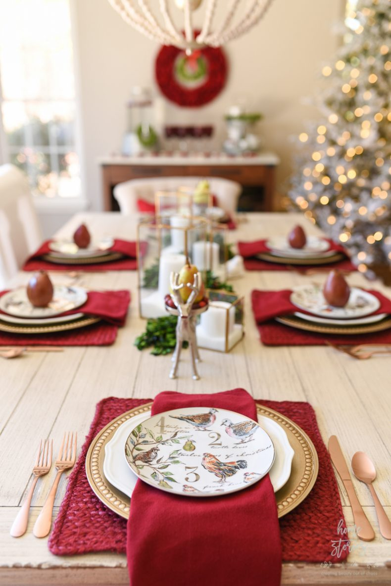 How to set an informal table 12 days of christmas table - Christmas table setting ideas ...