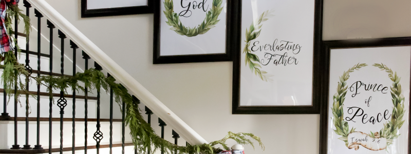 DIY Christmas Poster Verse Art Tutorial