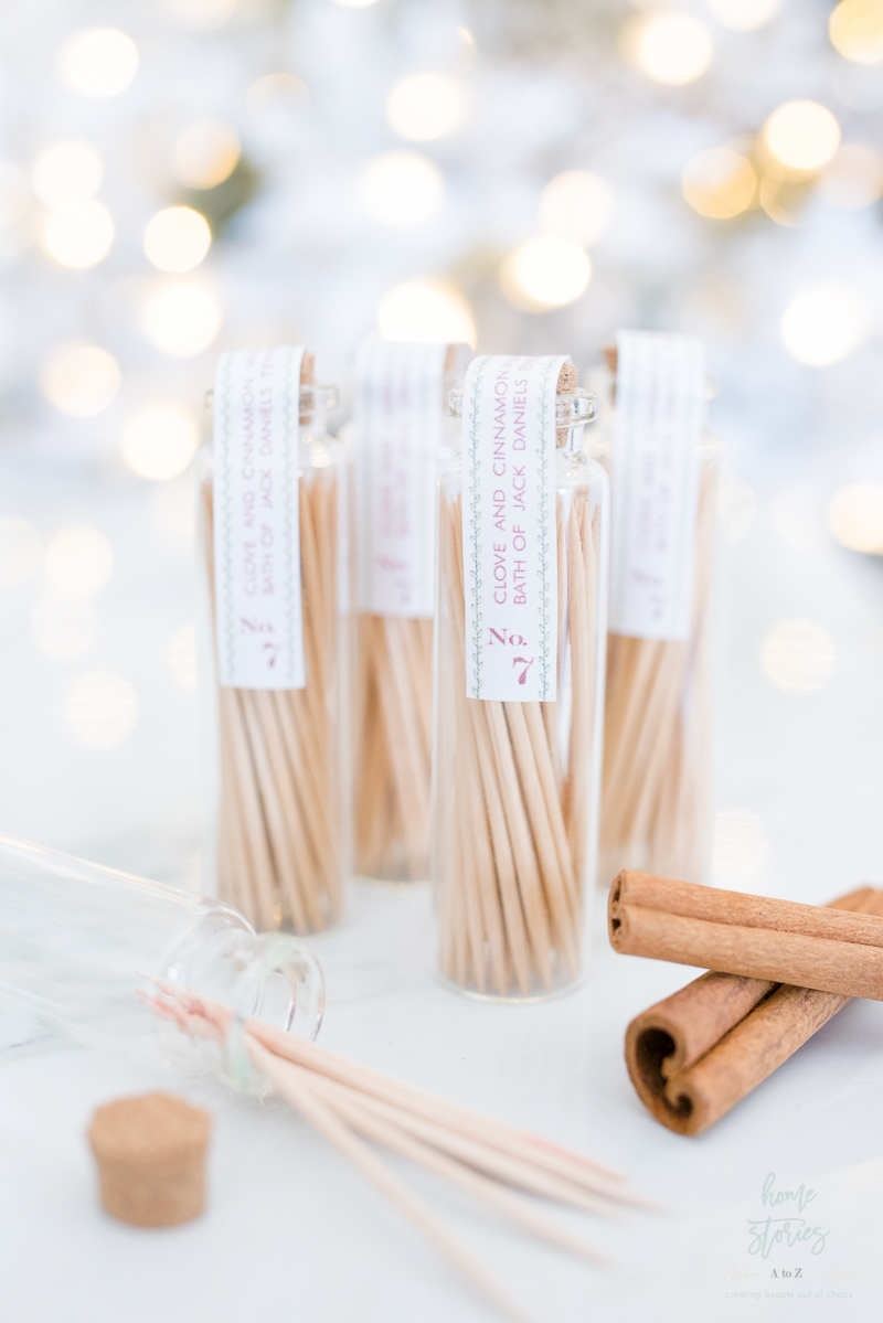 DIY alcohol flavored toothpicks