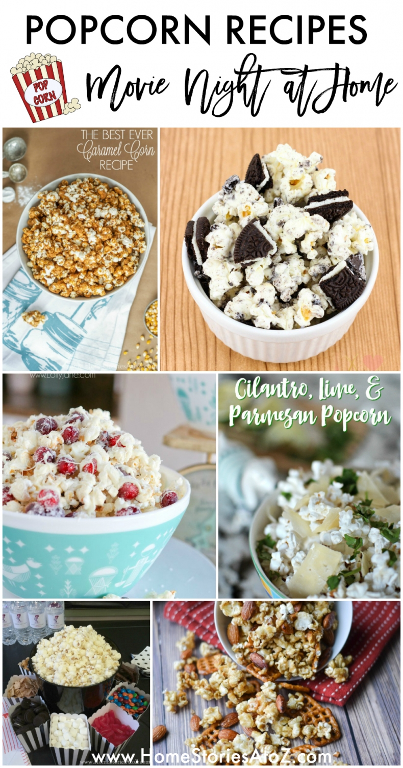 Popcorn Recipes - Movie Night at Home