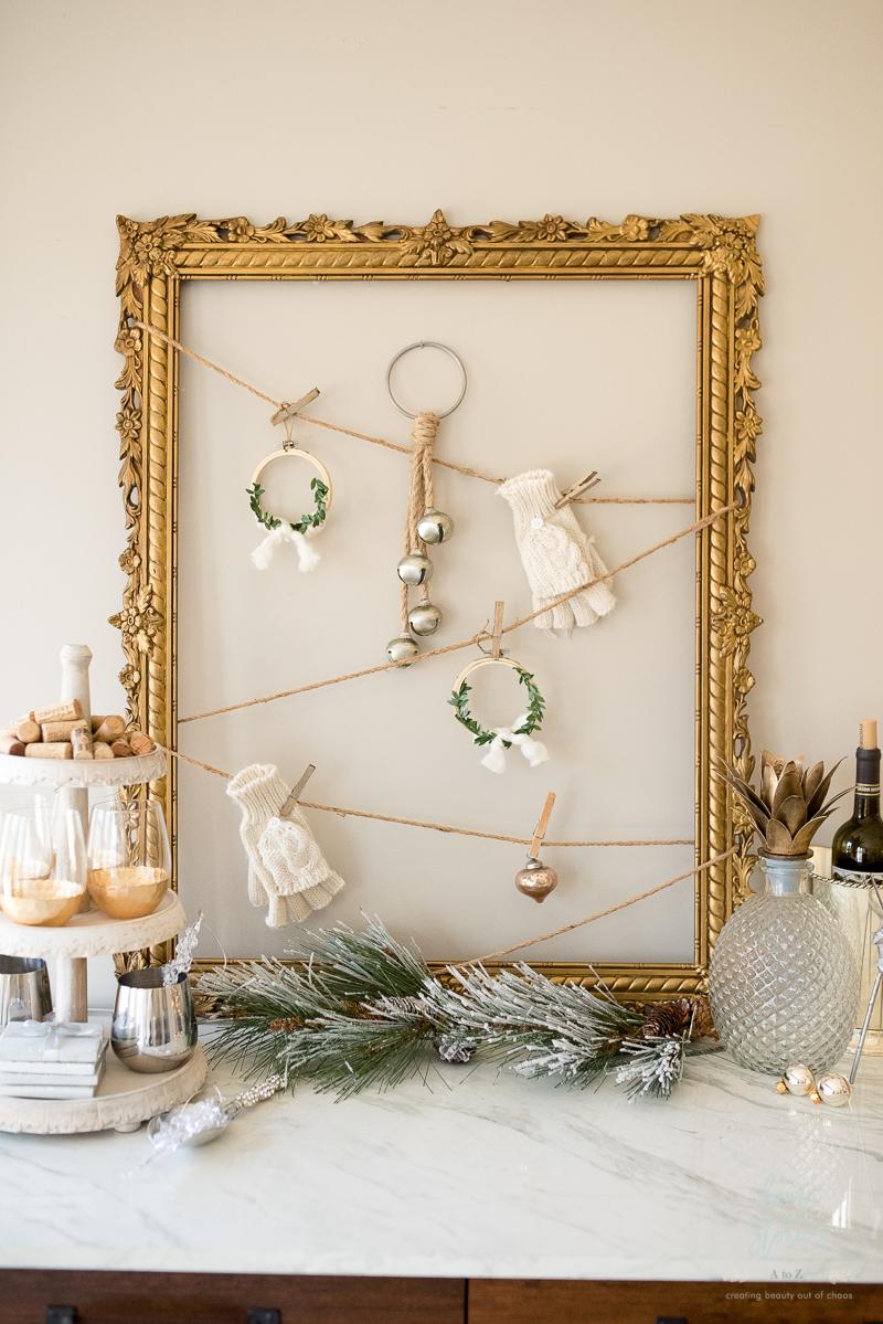 Winter White Christmas Dining Room