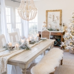 Winter White Christmas Dining Room