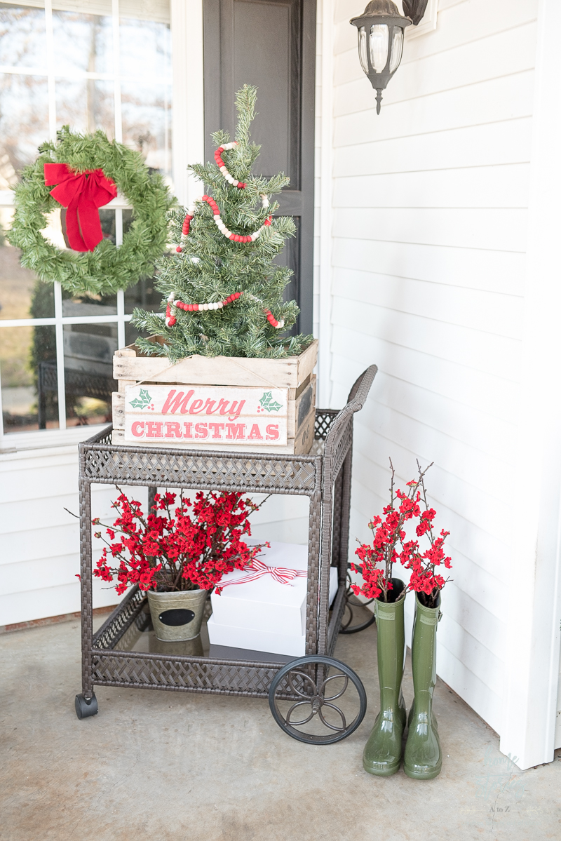 Classic Red And Green Christmas Porch