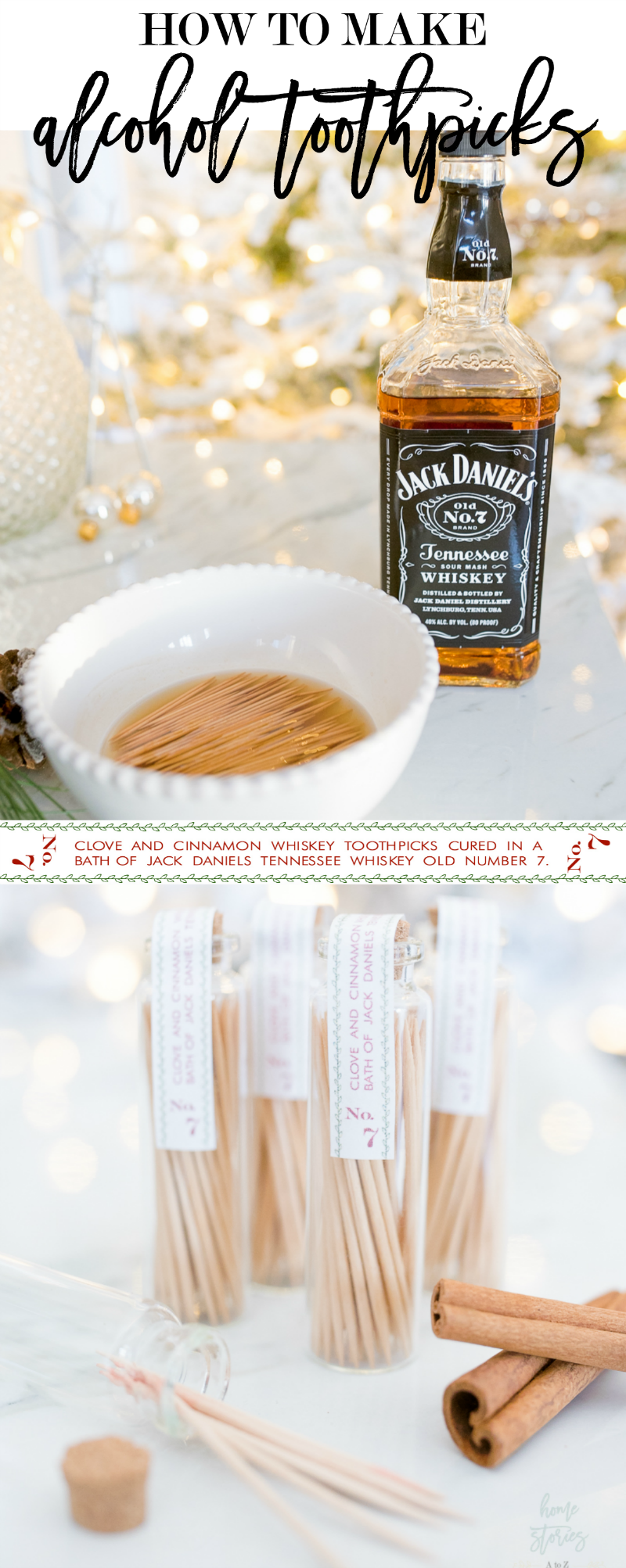 how to make alcohol toothpicks, DIY valentine's gift for men