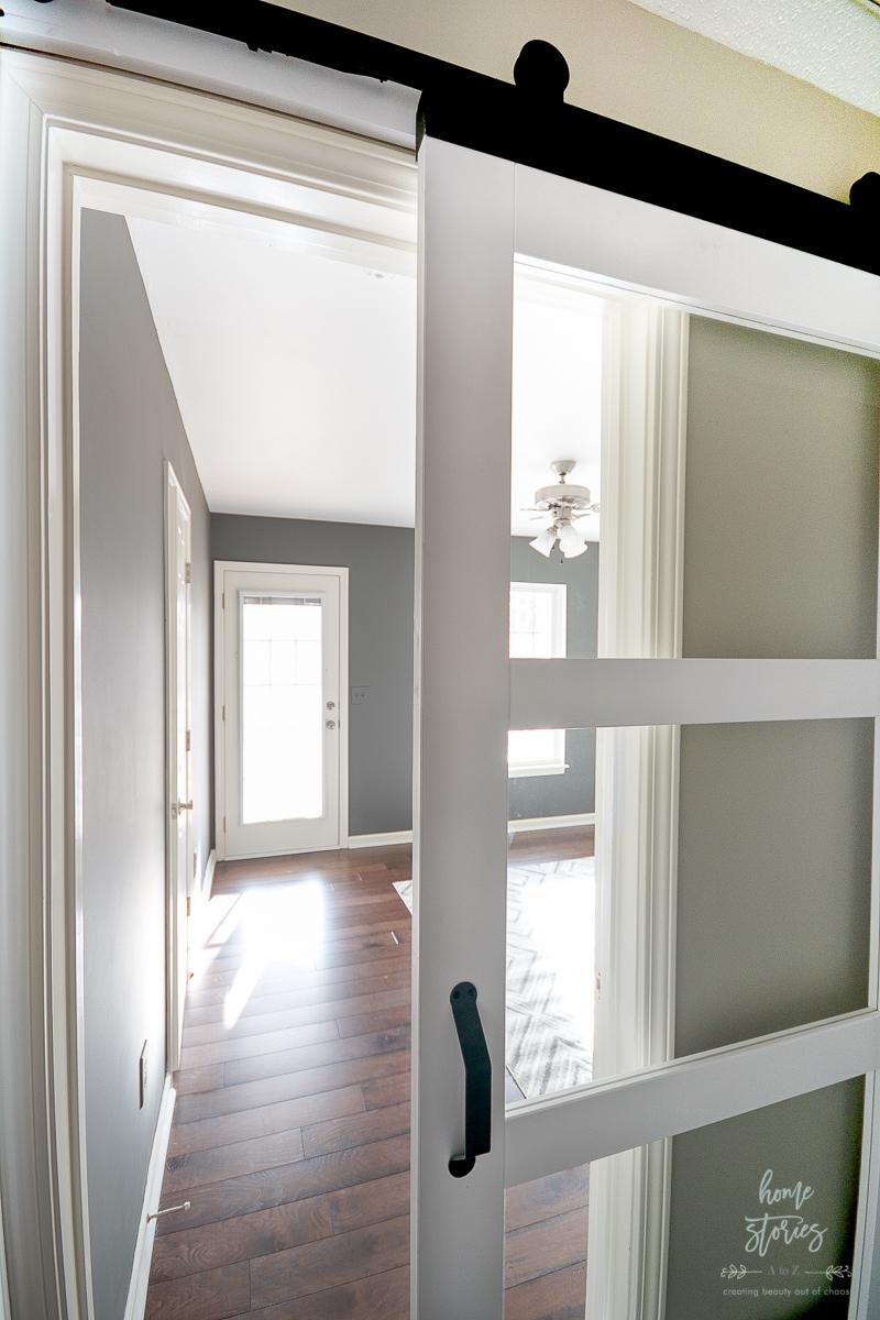 Masculine Office Design Plan With Jeld Wen Barn Door