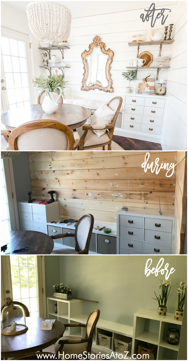 shiplap tutorial wood wall