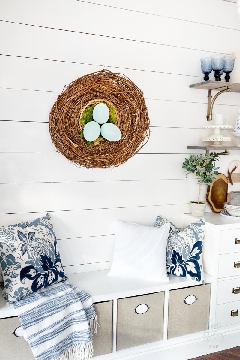 DIY Wreath Nest Wreath Grapevine Wreath Spring Wreath