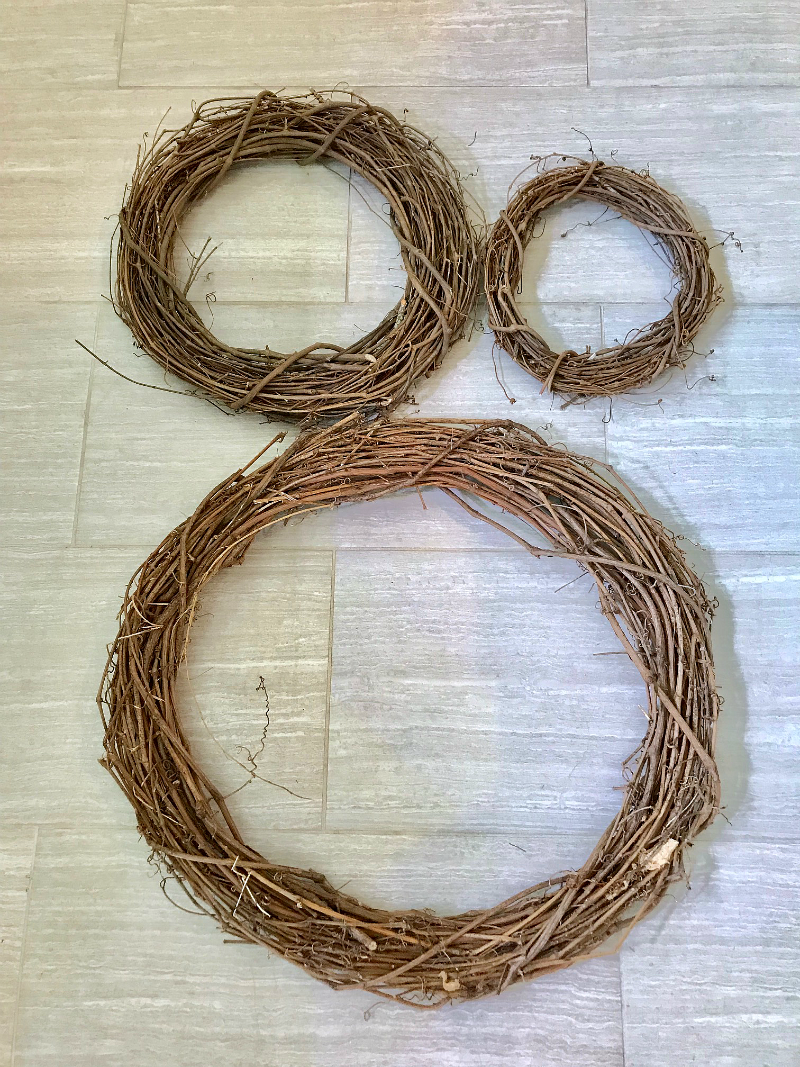 DIY wreath grapevine wreath nest