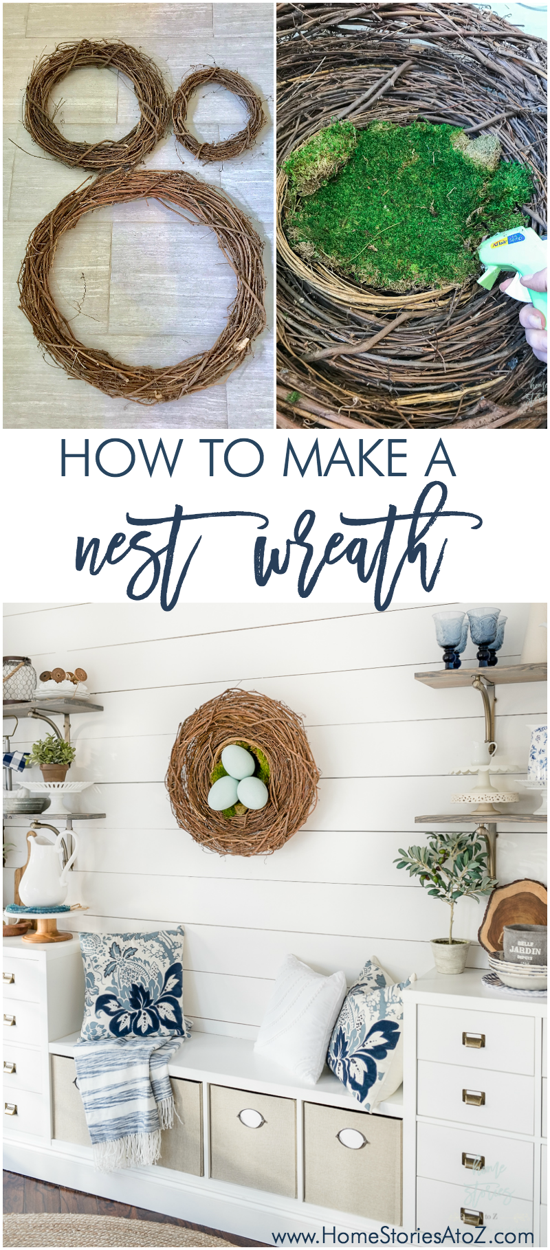 DIY Wreath Nest Wreath Easter Wreath