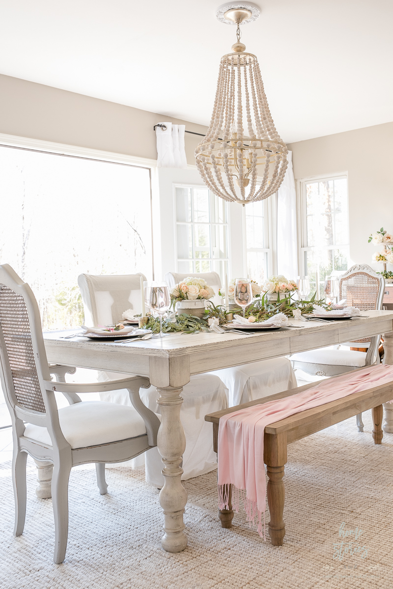 spring dining room decorating