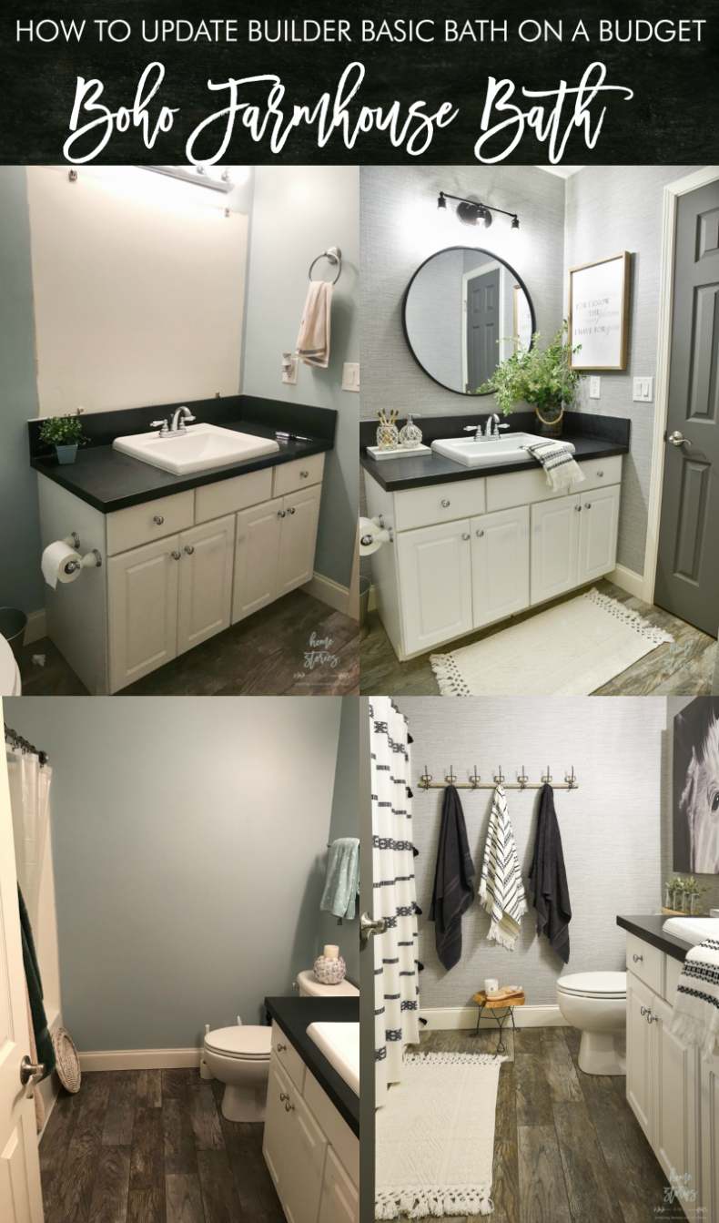 bathroom tutorial diy bathroom boho farmhouse bathroom bathroom makeover