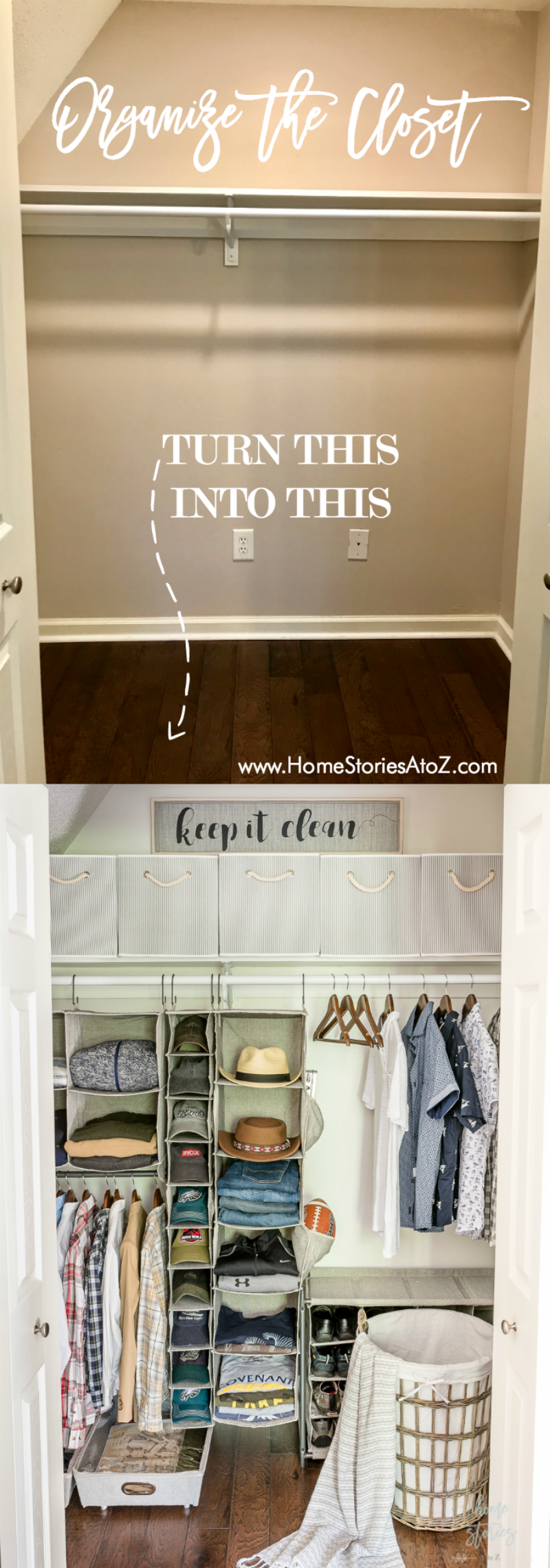 organize the closet