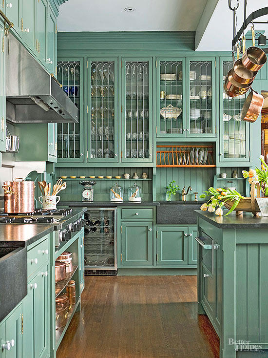 20+ GORGEOUS GREEN KITCHEN CABINET IDEAS