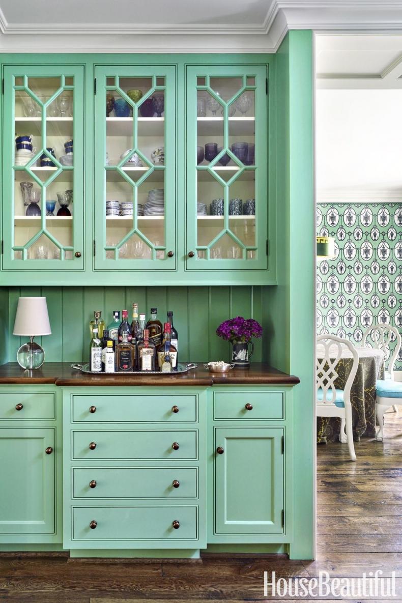 20+ GORGEOUS GREEN KITCHEN CABINET IDEAS